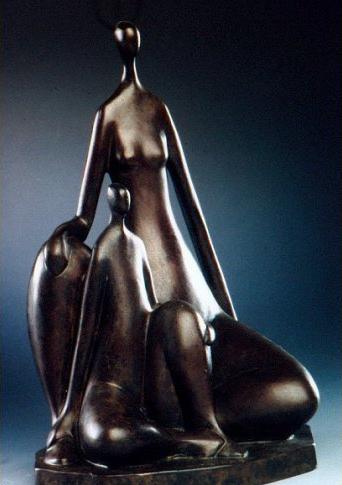 12x8x8-La-mere-et-l'enfant-Bronze