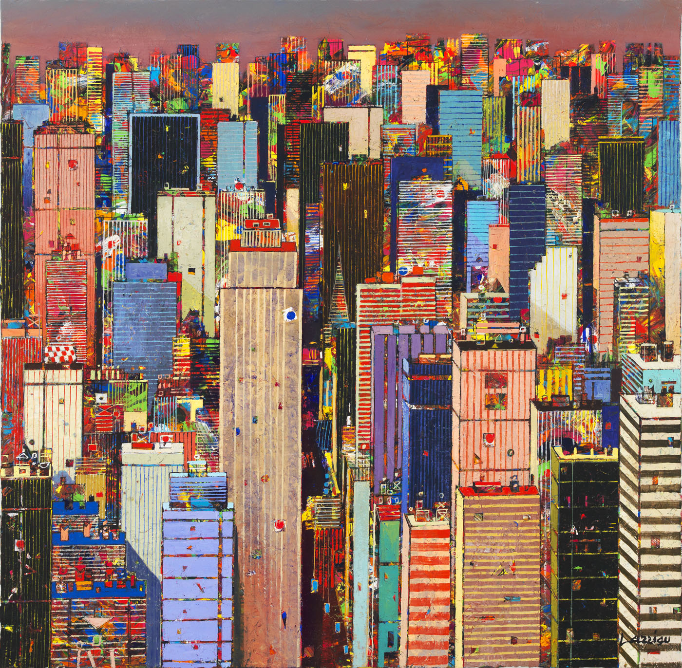 32x32 Manhattan Skyline - hi res