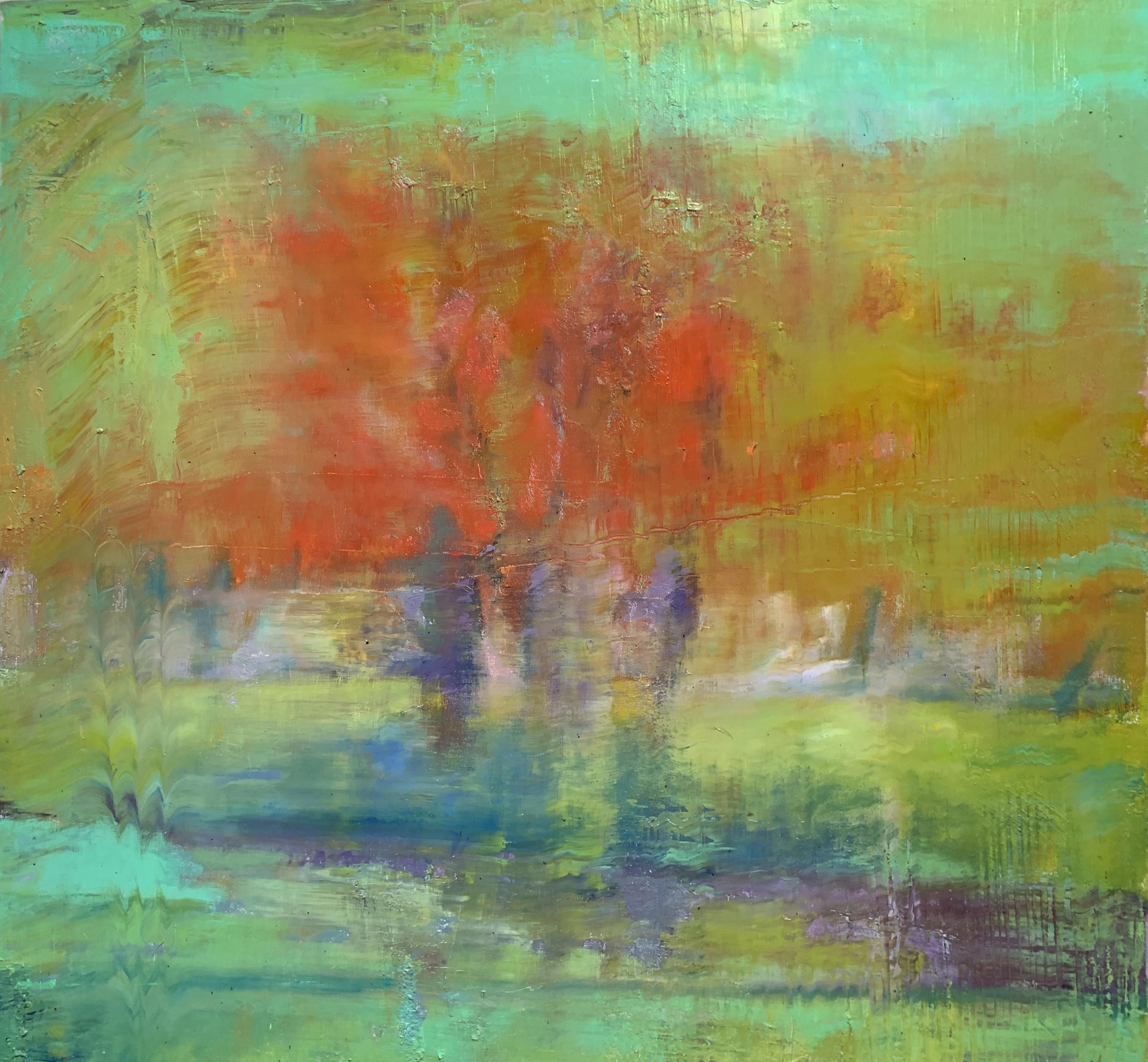 36x36 Orange & Red Trees