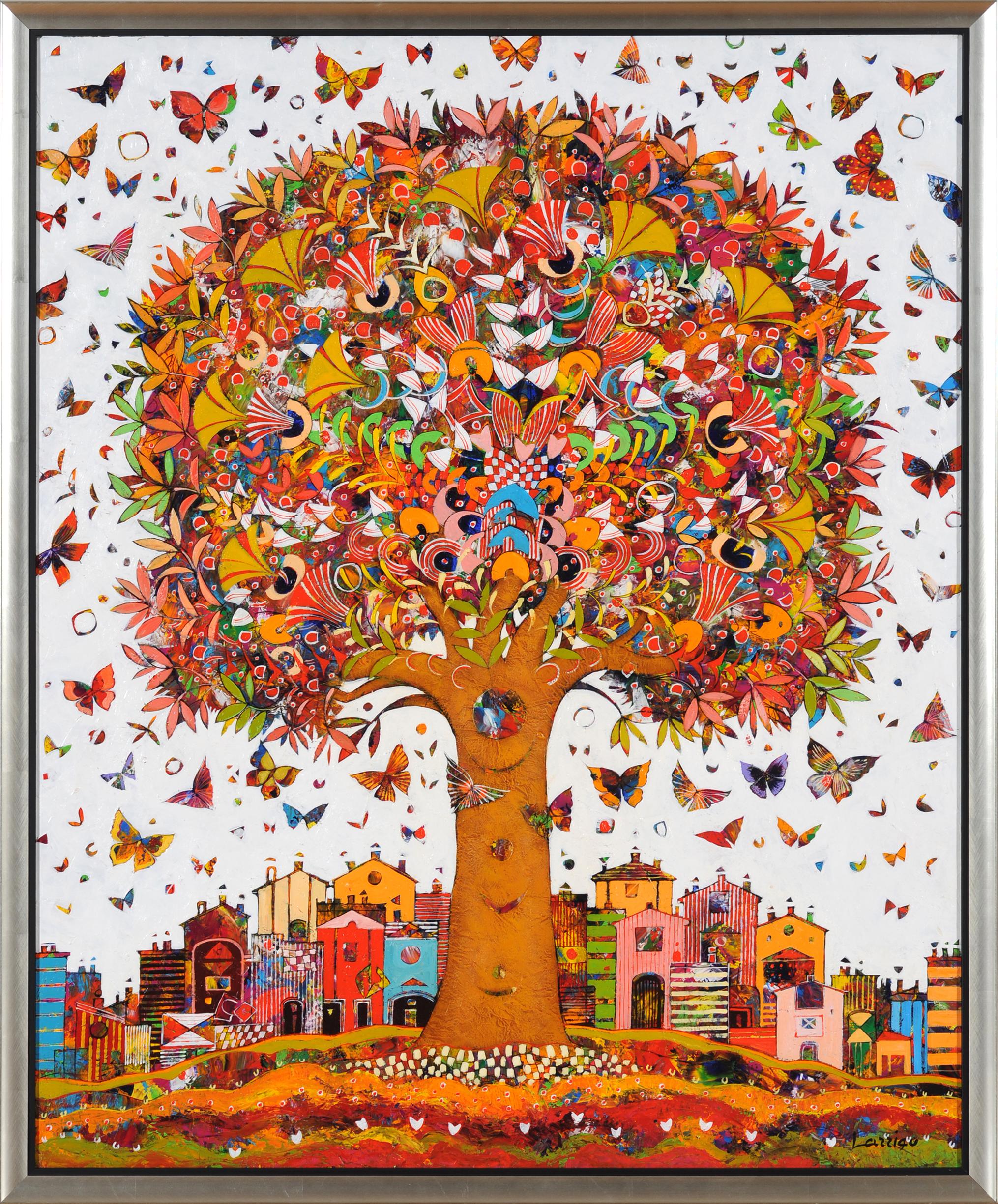 40x32 Tree of Life - White - w frame - lo res