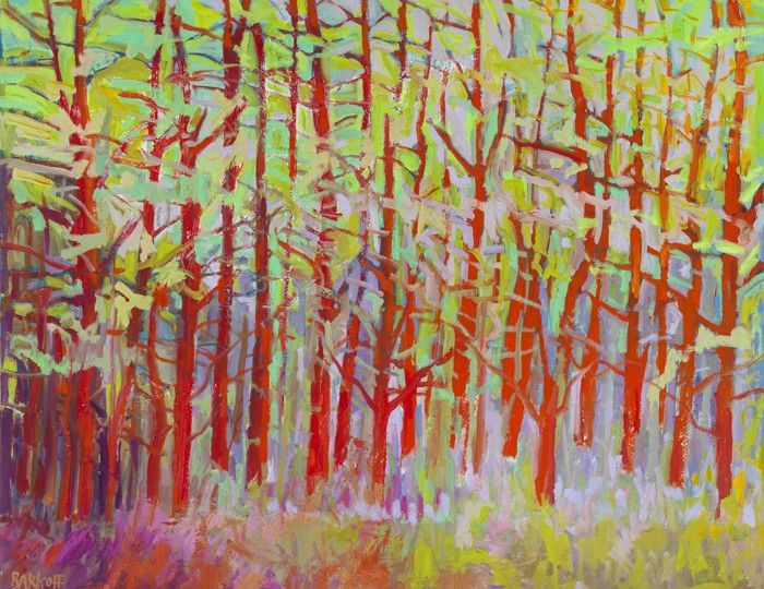 48 x 60 Forest Series - Red