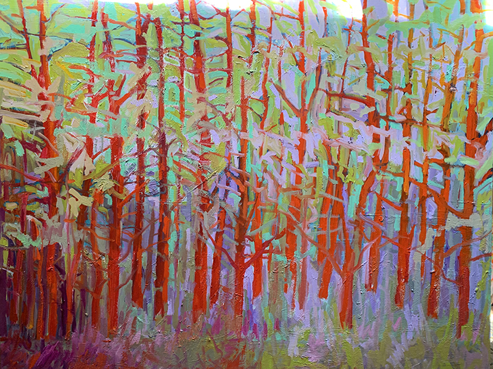 48x60 Forest Series - Red