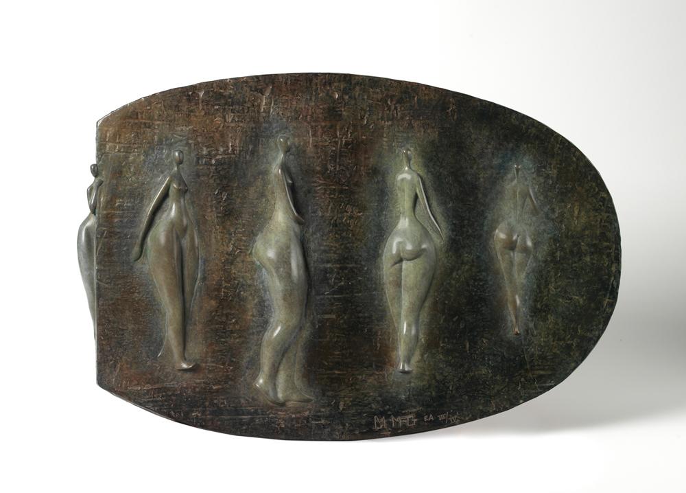 Bas relief aux cinq nus - 15x23x1 - Bronze - hi res