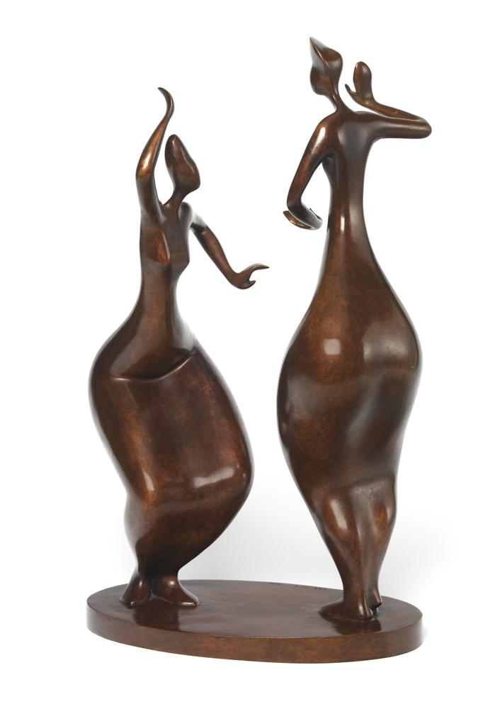 Danseuses Balinaises - 17x10x6 - Bronze - hi res