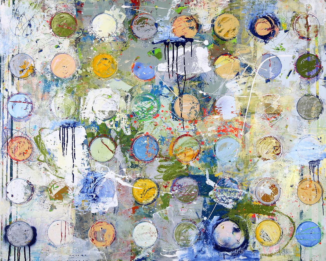 Fibonacci 362 size 48x60 w gloss varnish finish
