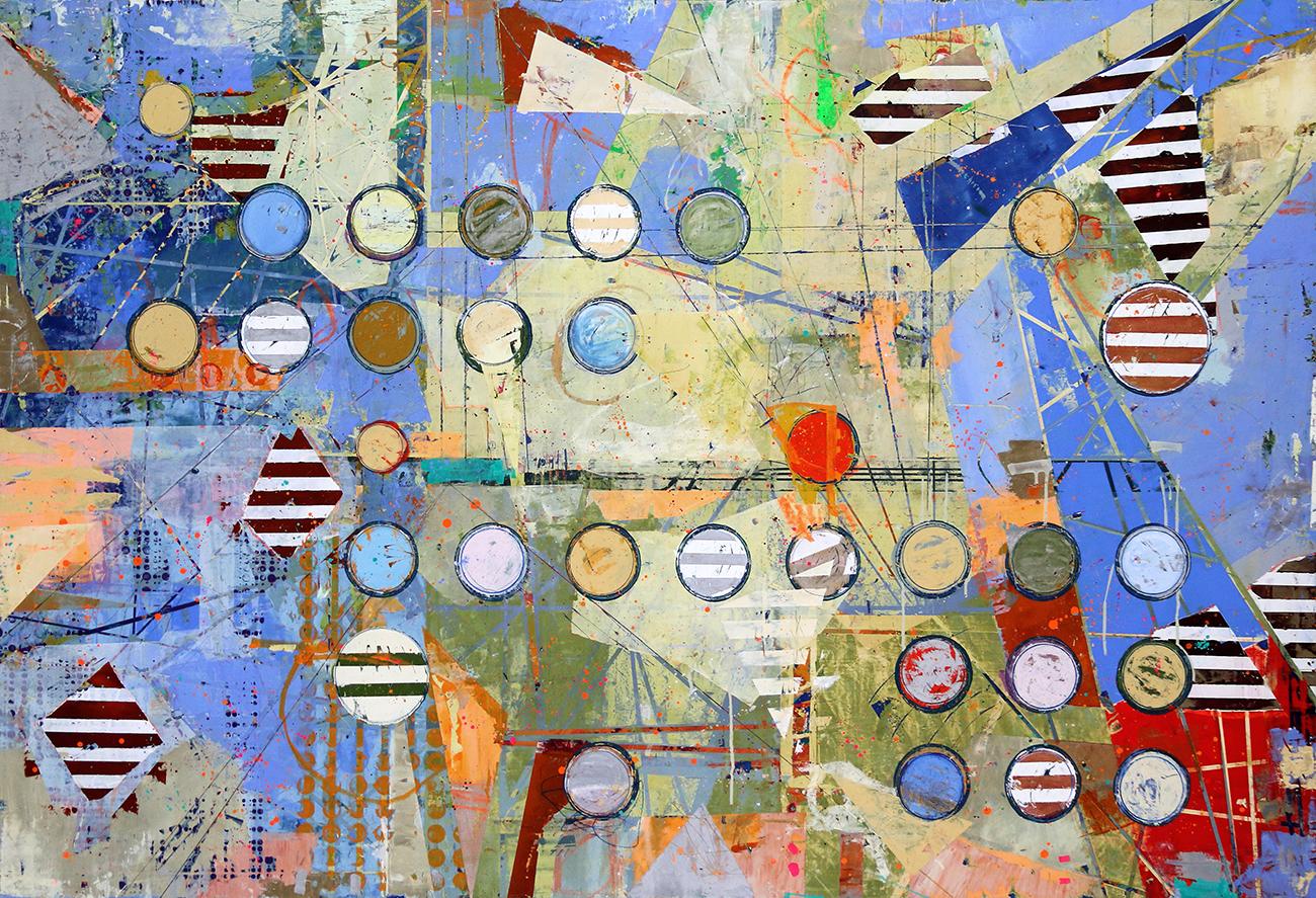 Fibonacci 366 size 48x72 w gloss varnish finish