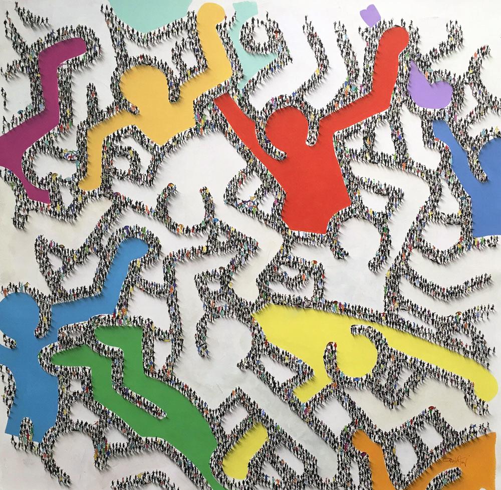 48x48 Haring the Masses