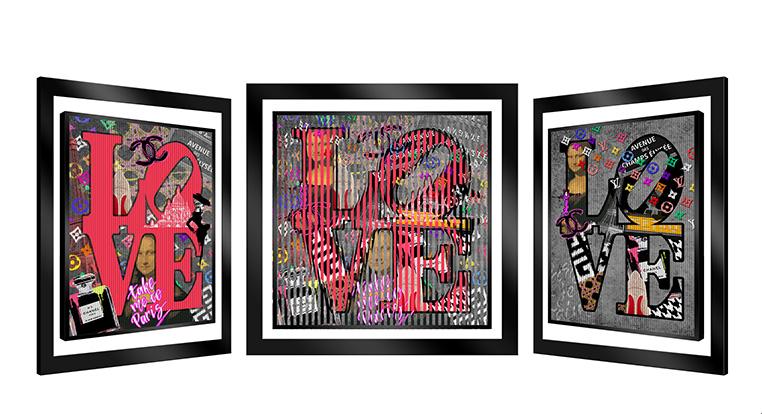 29x29 I Love Paris w frame