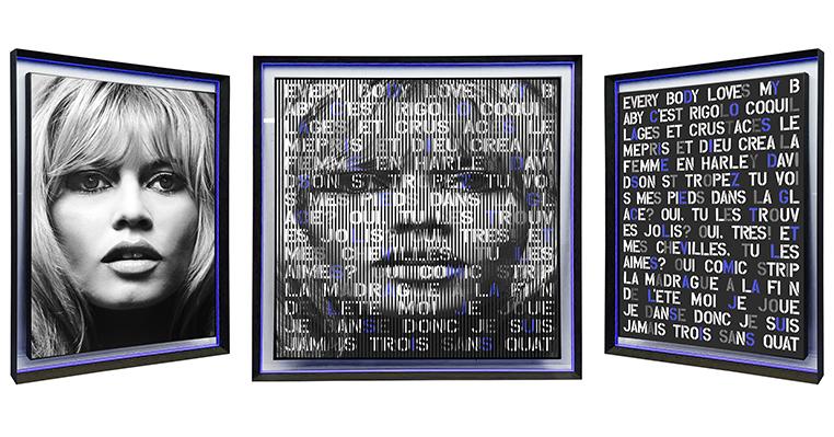55x55 Bardot Olala w frame