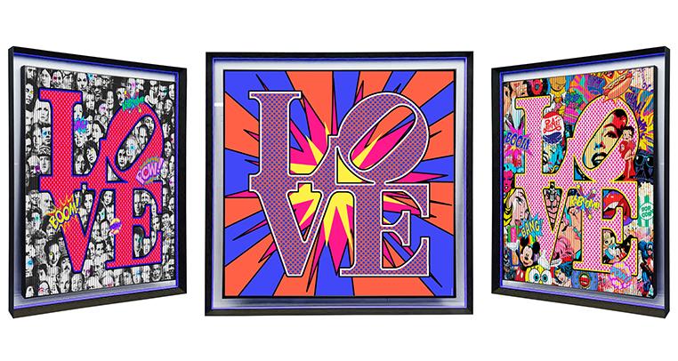 56x56 Trois fois plus d'amour w frame