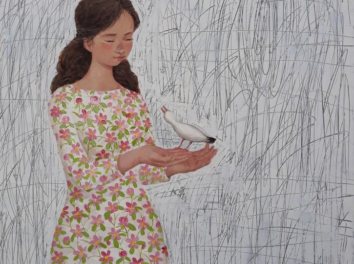 32 x 32 Oiseau & Fille
